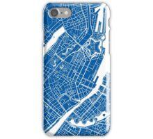 Copenhagen Map - Deep Blue iPhone Case/Skin