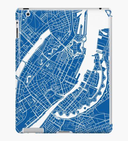 Copenhagen Map - Deep Blue iPad Case/Skin