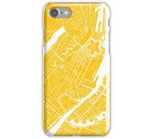 Copenhagen Map - Yellow iPhone Case/Skin