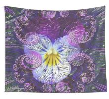WALLDECORATION ~ GALLIMAUFRY ~ FLORAL ~ Tiny Wild Pansy by tasmanianartist Wall Tapestry