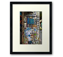 Centre Place Sticker Wall Framed Print