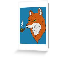 Smoking Fox Greeting Card
