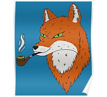 Smoking Fox Poster