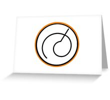 Dragon Ball Z Whis Symbol Design Greeting Card