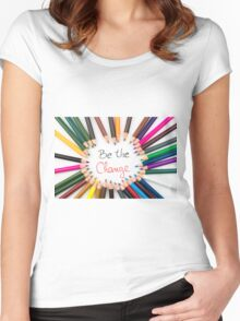 Be The Change Women's Fitted Scoop T-Shirt