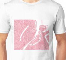 Copenhagen Map - Pink Unisex T-Shirt