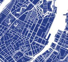 Copenhagen Map - French Blue Sticker