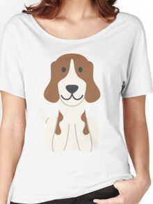 Beagle Illustration Women's Relaxed Fit T-Shirt