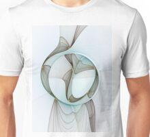 Abstract Elegance Modern Fractal Art Unisex T-Shirt