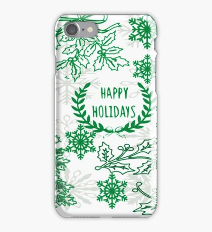 Christmas doodle (102 Views) iPhone Case/Skin