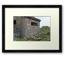 embrasure gun turret sea fort Framed Print