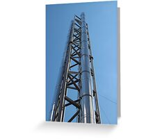 chimney with stainless steel Greeting Card