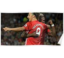 zlatan ibrahimovic and paul pogba celebration Poster