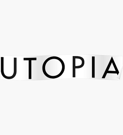 Utopia TV Title-Black Poster