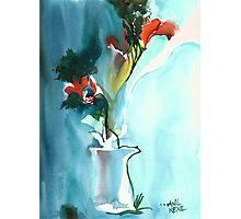 Flowers in Vase Photographic Print