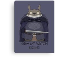 Totoro Night's Watch Canvas Print