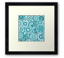Moroccan vector pattern in turquiose Framed Print