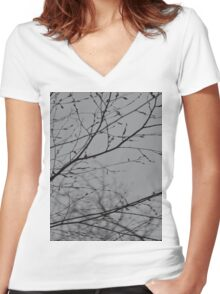Branches Impressions  Women's Fitted V-Neck T-Shirt
