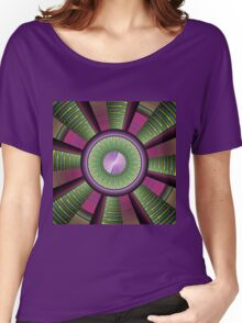Round and Colorful Fractal Pattern Women's Relaxed Fit T-Shirt