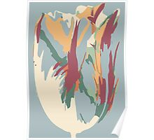 Abstract Artistic Colourful Summer Tulip Poster