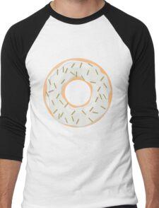 Gold Glitter Sprinkles Donut Men's Baseball ¾ T-Shirt