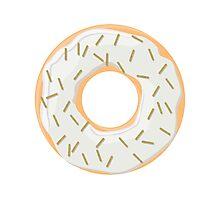 Gold Glitter Sprinkles Donut Photographic Print