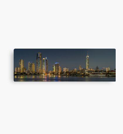 Surfers Paradise, Gold Coast at night Canvas Print