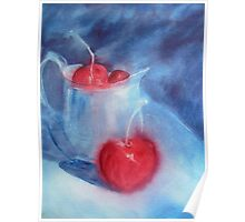 Cherries and Silver Jug Poster