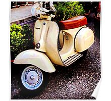 Retro Italian Scooter Poster