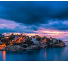 Waiting for dawn at Cala d'Enmig - panorama Sticker