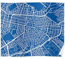 Sofia Map - Deep Blue Poster