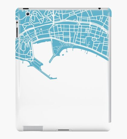 Cannes Map - Baby Blue iPad Case/Skin