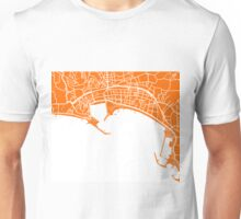 Cannes Map - Orange Unisex T-Shirt