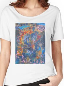 Swans before the heart shaped tree By Darryl Kravitz Women's Relaxed Fit T-Shirt