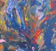 Swans before the heart shaped tree By Darryl Kravitz Sticker