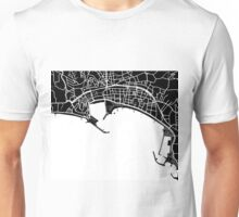Cannes Map - Black Unisex T-Shirt
