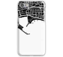 Cannes Map - Black iPhone Case/Skin