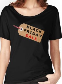 Black Friday Sale Tag Label With String Women's Relaxed Fit T-Shirt