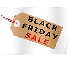 Black Friday Sale Tag Label With String Poster