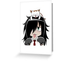 Neko Tomoko Greeting Card