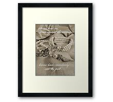 In Memory of Gatsby Framed Print
