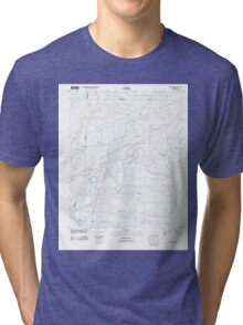 USGS TOPO Map Arkansas AR Damascus 20110721 TM Tri-blend T-Shirt