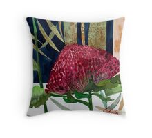 Australian Waratah  Throw Pillow