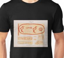 0203 Dynastie IV Inschriften auf Bausteinen a e Pyramiden von Giseh Jîzah f g Pyramiden von Dahschur Dahshûr Unisex T-Shirt