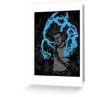 inFAMOUS2 Cole Ink  Greeting Card