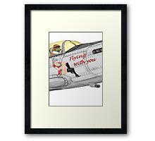 Aircraft nose art FlyN with U Framed Print
