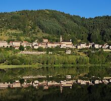 Saint Martial lake and village by Patrick Morand