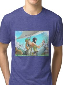 Zoro & Nico Robin Tri-blend T-Shirt