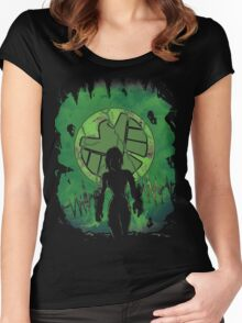 Earthquake's Queen. Women's Fitted Scoop T-Shirt