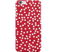 Cute Cherry Red and White Polka Dots iPhone Case/Skin